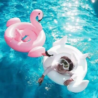 Baby Swimming Ring Dount Seat Inflatable Flamingo Swan Pool Float