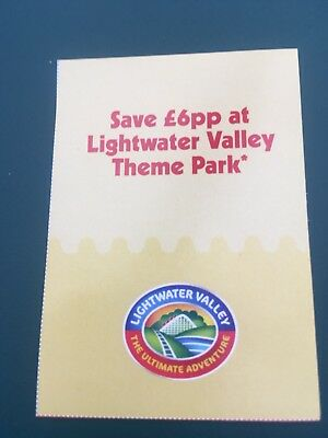 LIGHTWATER VALLEY THEME PARK VOUCHER Save £30