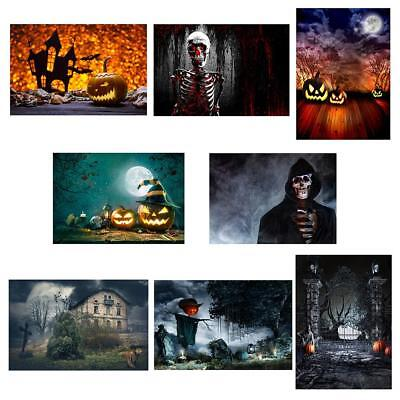 Halloween Festival Vinyl Wall Photography Background Backdrops Home Party Decor