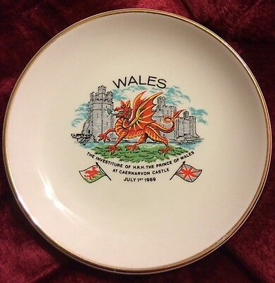 1969 July 1st Investiture H.R.H. Prince Of Wales At Caernarvon Castle Plate