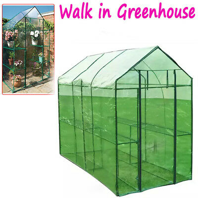 Walk In Greenhouse Garden Small Plant Flower Room Compact Storage Frame  195cm Uk