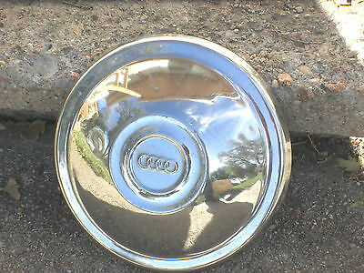 "VINTAGE Audi ""Dog Dish""  Hubcaps Hub Cap 9"" Very Good Condition"