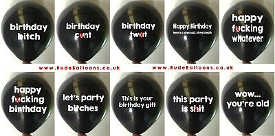 10 Rude Balloons Birthday Mix - Abusive Adult Balloon Funny Novelty Gift His Her