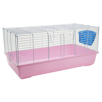 Pet Ting Clover Pink Rabbit Cage 100cm Guinea Pig Hutch Large Animal Bunny Home