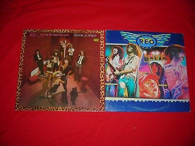 reo speedwagon lot of 2 albums nine lives you get what you play for vinyl record