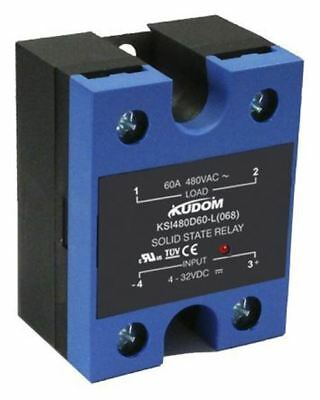 Kudom 60 A Solid State Relay, Zero Crossing, Panel Mount SCR, 530 V ac Maximum L
