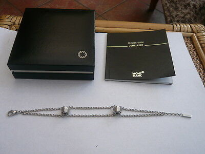 Genuine Boxed Designer Sterling Silver Mont Blanc Profile Wish Bracelet 38545