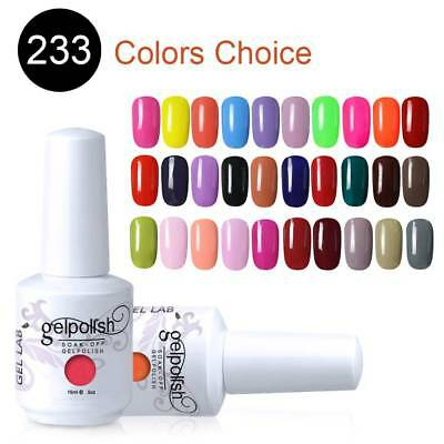 GEL LAB 15ML Candy Color Gel Polish Top Base Coat Manicure Varnish Lacquer