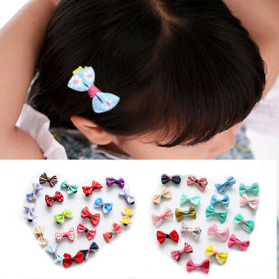 10PCS Baby Girls Sweet Bows Snaps Hair Clip Alligator Clips Hair Accessories New