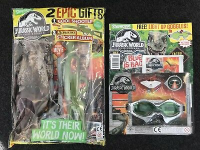 Showcase magazine #32 & 33 2018 Jurassic World Fallen Kingdom + Stickers + Gifts
