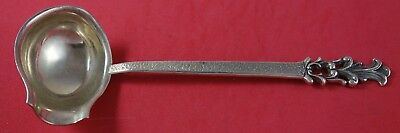 """Swedish .830 Silver Gravy Ladle with Spout Chased on Reverse Circa 1947 8"""""""