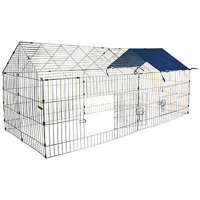 Metal Pet Chicken Rabbit Run Play Pen Pig Dog Cage Crate Chicken Enclosure Hutch