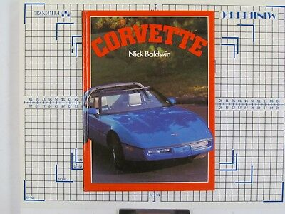 Car History Book: Corvette (Nick Baldwin 1984) Chevrolet 1950s-1980s G1568