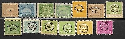 M-31 Caribbean lot of 13 revenue stamps, 1940s-1950s