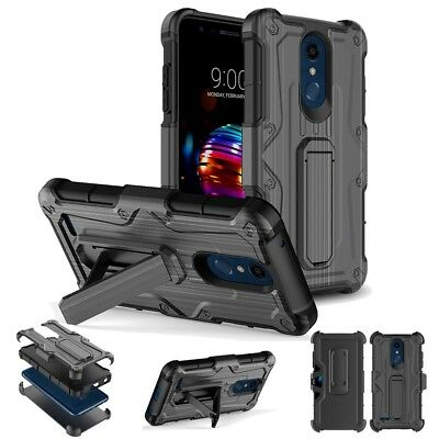 For LG Phoenix Plus| Harmony 2| Belt Clip Holster Stand Hard Phone Case Cover