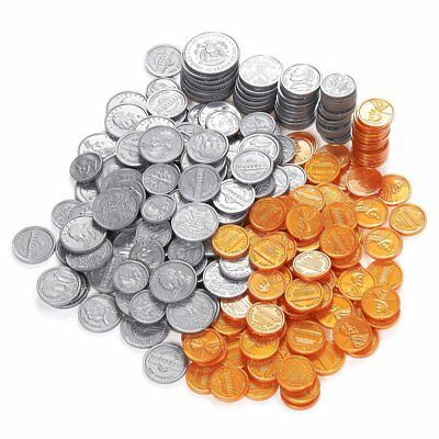 Play Fake Money US  Gift Toy For Kids 250 Play Coins Set USD