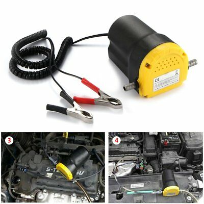 Portable Car Moto Electric 60W 12V Transfer Pump Extractor Oil Fluid Diesel NEW