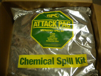 Brady Hazwik Attack Pac Chemical Portable Spill Kit Shk-Atk