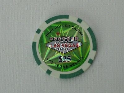 Welcome to Fabulous Las Vegas High Roller Casino $25 Chip