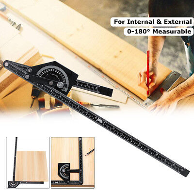 Protractor Stainless Steel 180° Angle Finder Measure Ruler Gauge Tool 230x500mm