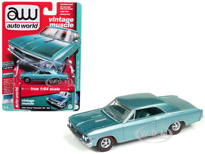 1/18 AUTOWORLD 1966 Chevrolet Chevelle SS 396 L78 Red