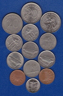 MALAYSIA - Set of current coins for Travellers/ Numismatic Collectors - Unc/Circ