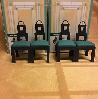 Doll House Furniture 4 Dining Room Chairs Take a Seat Collectible by Raine 24021