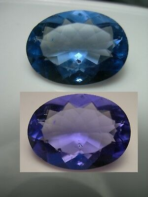 16.89cts COLOR CHANGE FLUORITE gem Blue Purple China Natural oval 19.3 X 14.2