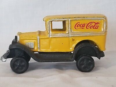 Coca Cola Chevy Panel Truck Iron Car FREE SHIPPING
