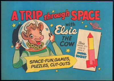 1950 Elsie the Cow Space Comic, Game, & Cut-Out Book. Old School For Children.