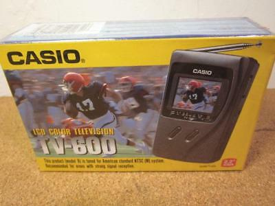New Sealed Casio TV-600 LCD Color TV Vintage
