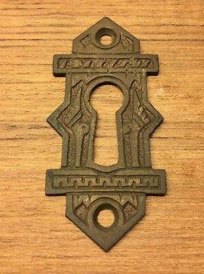 Antique Vintage Fancy Brass Eastlake Victorian Key Hole Keyhole Cover 2-3/8""