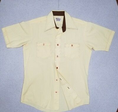 Vintage Mens Short Sleeve Button Up Shirt By Don Manley Size 15 1/2