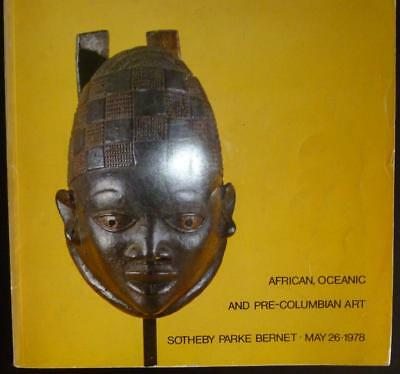 Sotheby Parke Bernet NY African, Oceanic, Pre-Columbian Tribal Art May 26, 1978
