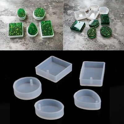 5pcs DIY Silicone Mould Craft Mold For Resin Necklace Jewelry Pendant Making