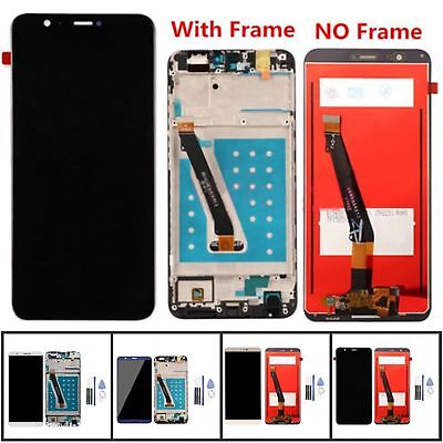 Schermo LCD Display Touch Screen Digitizer + Cornice Per Huawei P Smart/Enjoy 7S