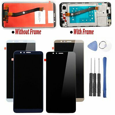 Schermo LCD Display Glass Touch Screen Digitizer + Cornice Per Huawei Honor 7X