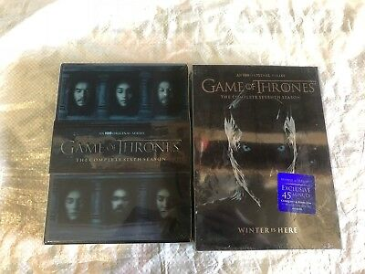 Game of Thrones: 6 & 7 DVD Set The Complete Season Sixth and Seventh Brand New