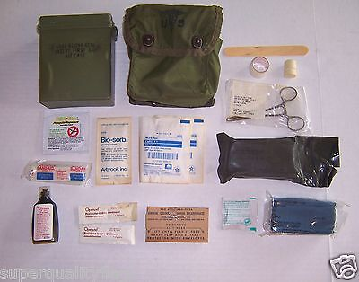 First aid kit US military genuine GI surplus complete & full with cover & case