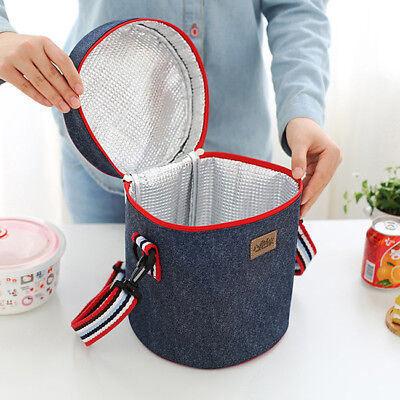 Outdoor Camping Hot Food Storage Lunch Bags Insulated Thermal Case 8C