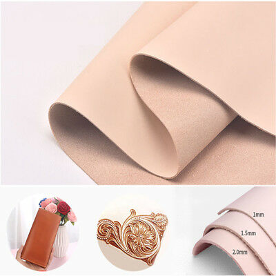 1-2mm Natural Genuine Cow Leather Sheet DIY Craft Piece 20*14-30*30cm AU