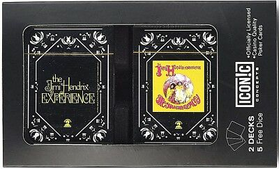 Jimi Hendrix Are You Experienced Paquete Doble de Playing Tarjetas & Dados Lata