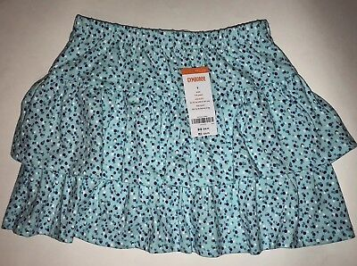 Gymboree Girls Size 8  7/8 Tiered Ruffle Multi Layer Skirt With Shorts NWT