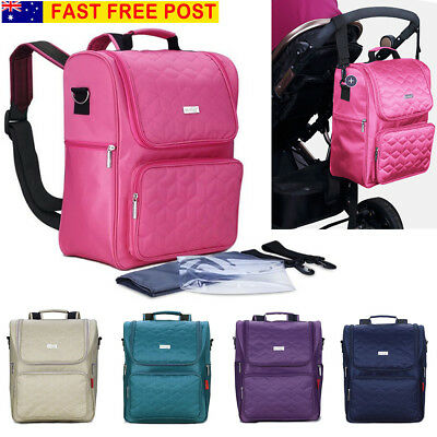 AU Baby Multifunctional Diaper Rucksack Nappy Changing Backpack Mother Mummy Bag