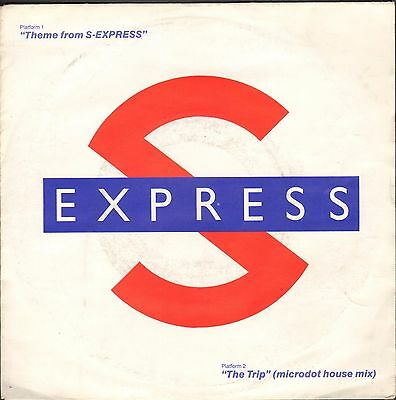 """S Express - Theme From S-Express  7""""  Single  VG+"""
