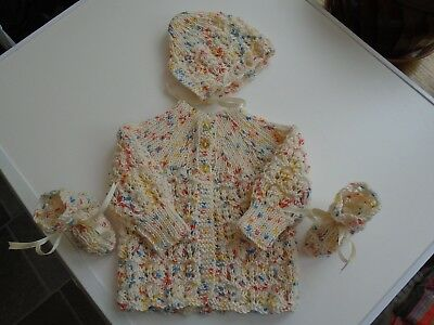 New gorgeous hand knitted baby set/bundle, 3 - 6 months