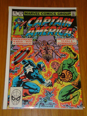 Captain America #274 Marvel Comic Near Mint Condition October 1982