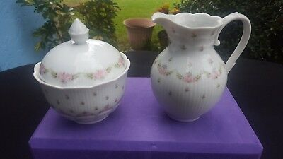2 Pieces KAISER Germany Marseille Lidded Sugar Pot and Creamer