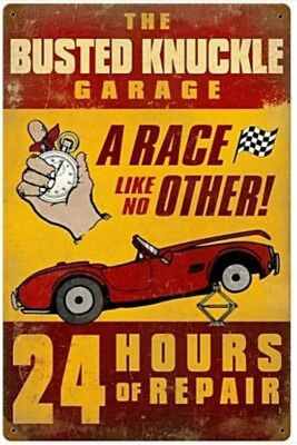 Busted Knuckle Garage Auto Parts metal sign   300mm x 300mm pst