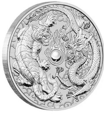 2018 Dragon and Tiger 1oz Silver Bullion (20 Coins)